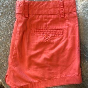 Coral J Crew Shorts